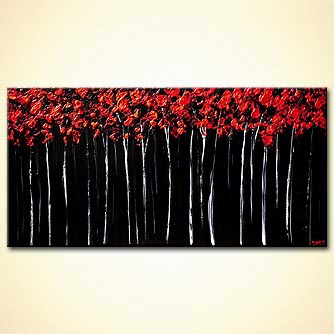 modern abstract art - Red Forest