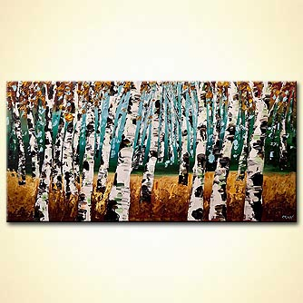 modern abstract art - Into the Woods