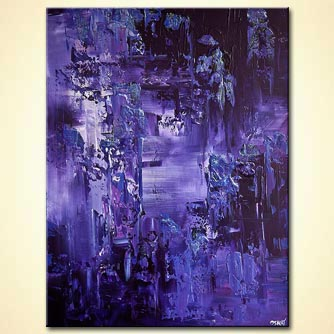 modern abstract art - Purple