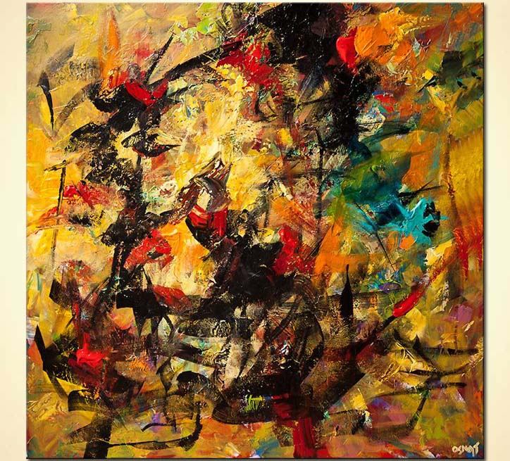 large colorful contemporary abstract painting
