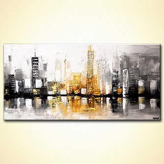 canvas print - City View