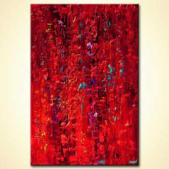 canvas print - Red