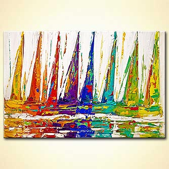 Seascape painting - Sky Sailing