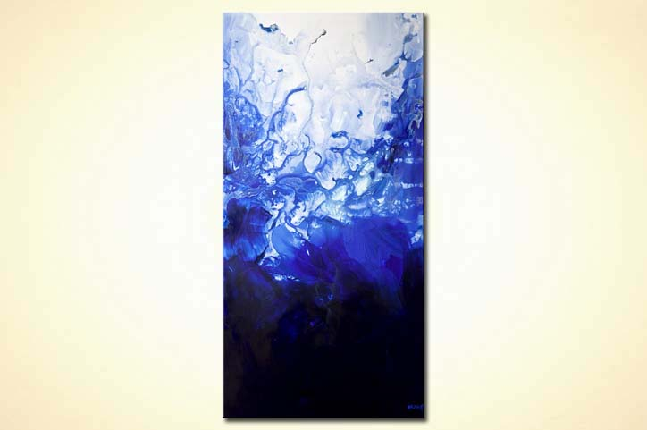 blue abstract painting home decor