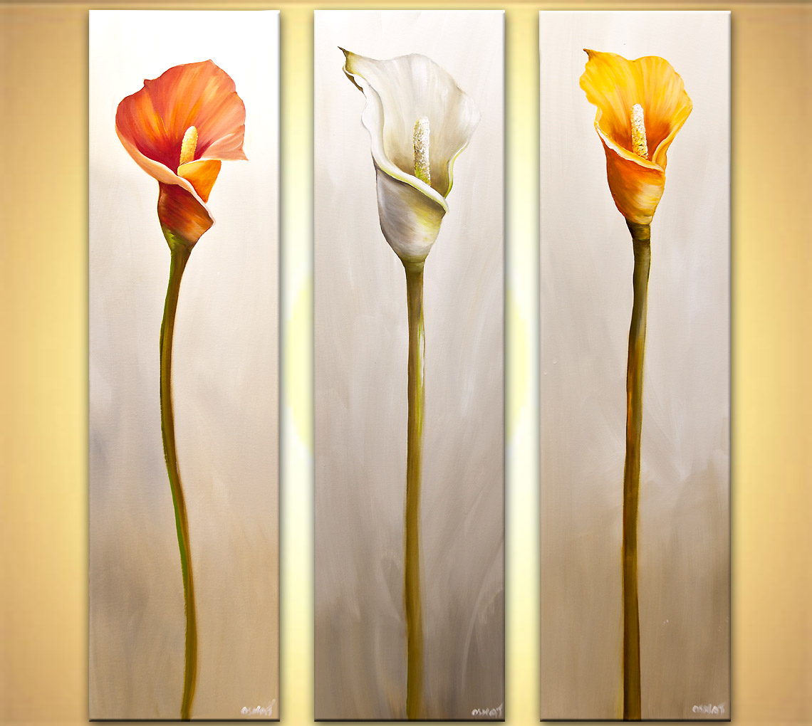 Calla Lily Paintings On Canvas