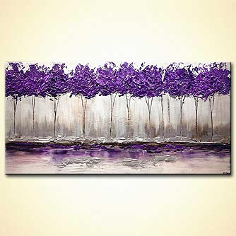 modern abstract art - Purple Summer