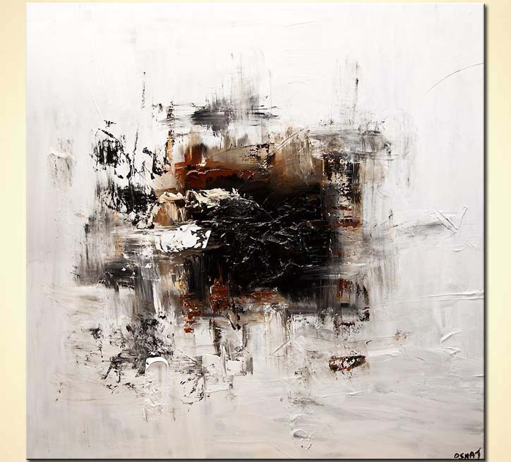 Painting white abstract art modern abstract painting for Art painting for home decoration