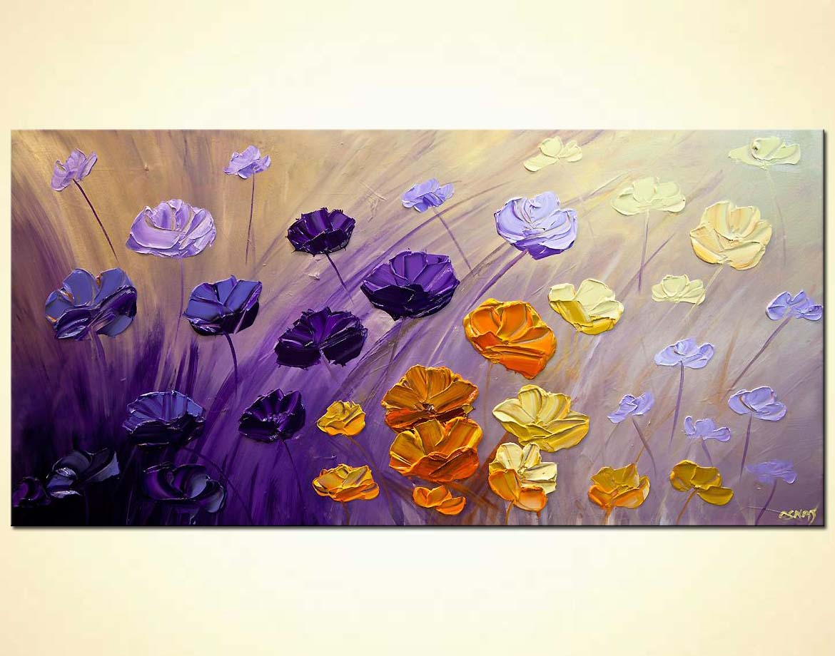 Flower Abstract Art On Canvas