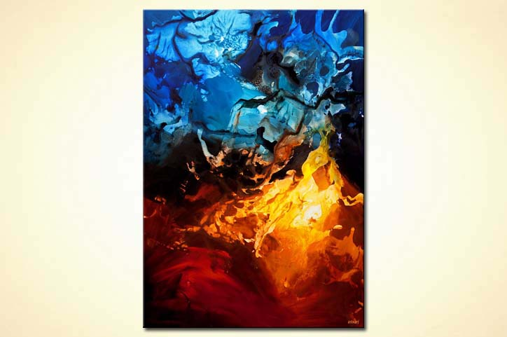 buy blue red contemporary abstract art home decor 7813