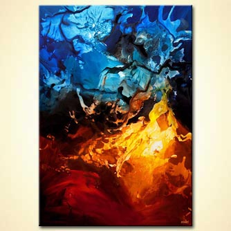 canvas print - Fire and Ice