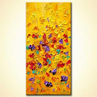 Floral painting - Yellow