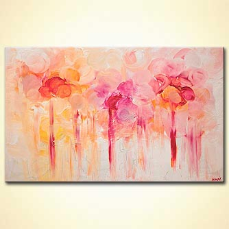 colorful floral painting home decor