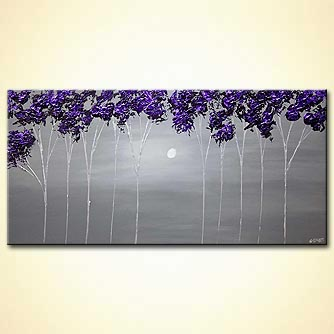 Landscape painting - Purple Blossom