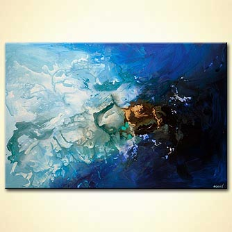 contemporary blue abstract art blue painting
