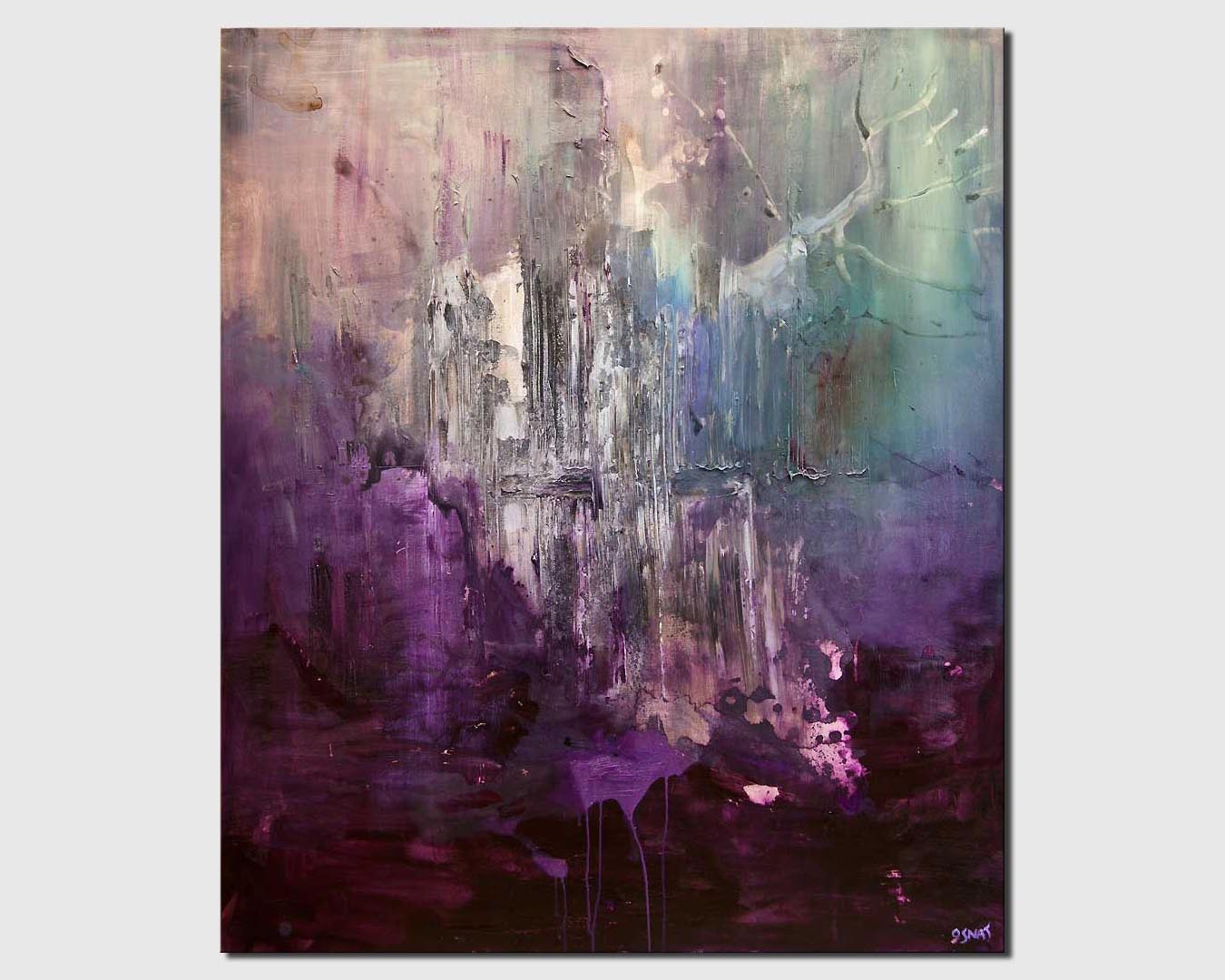 purple abstract art home decor