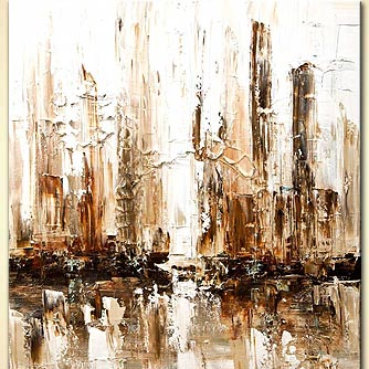 Cityscape painting - White City