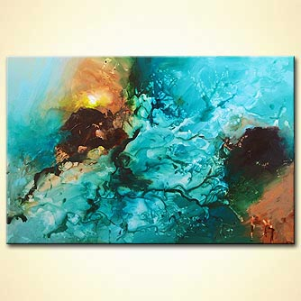 canvas print - Blue
