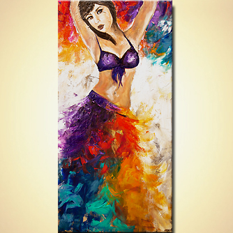 modern abstract art - Belly dancer