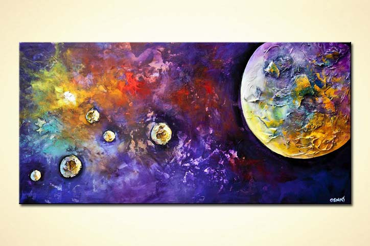 modern abstract art - Birth of a Planet