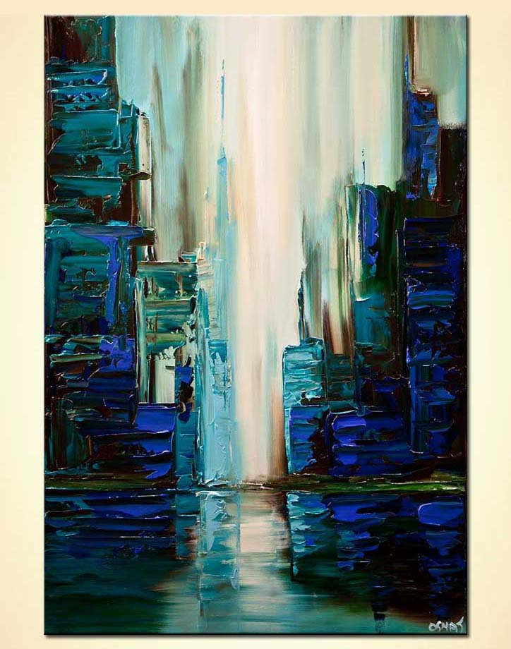 Abstract Cityscape Painting 8069 Cyber City