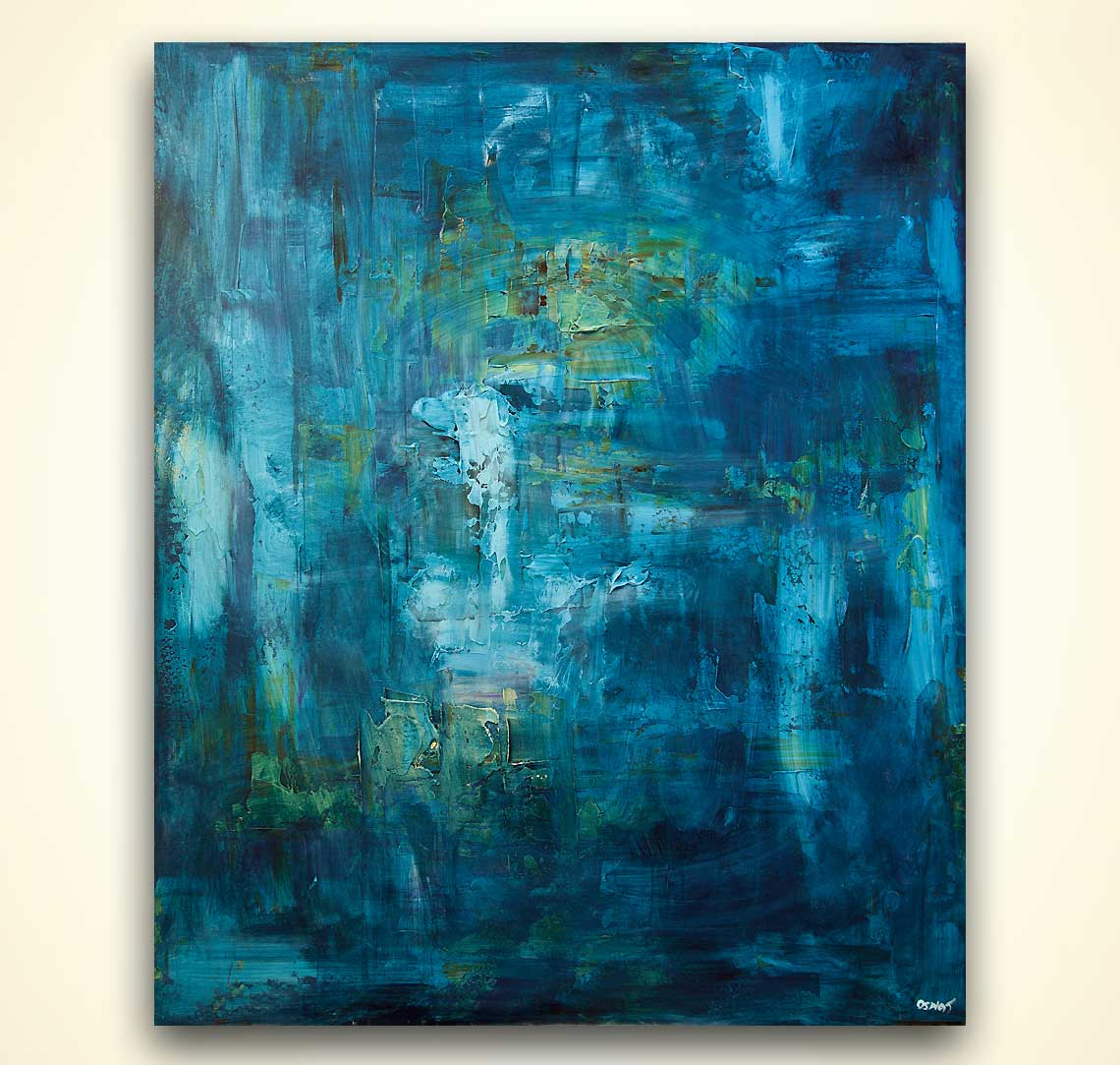 modern abstract art - The Blue Land