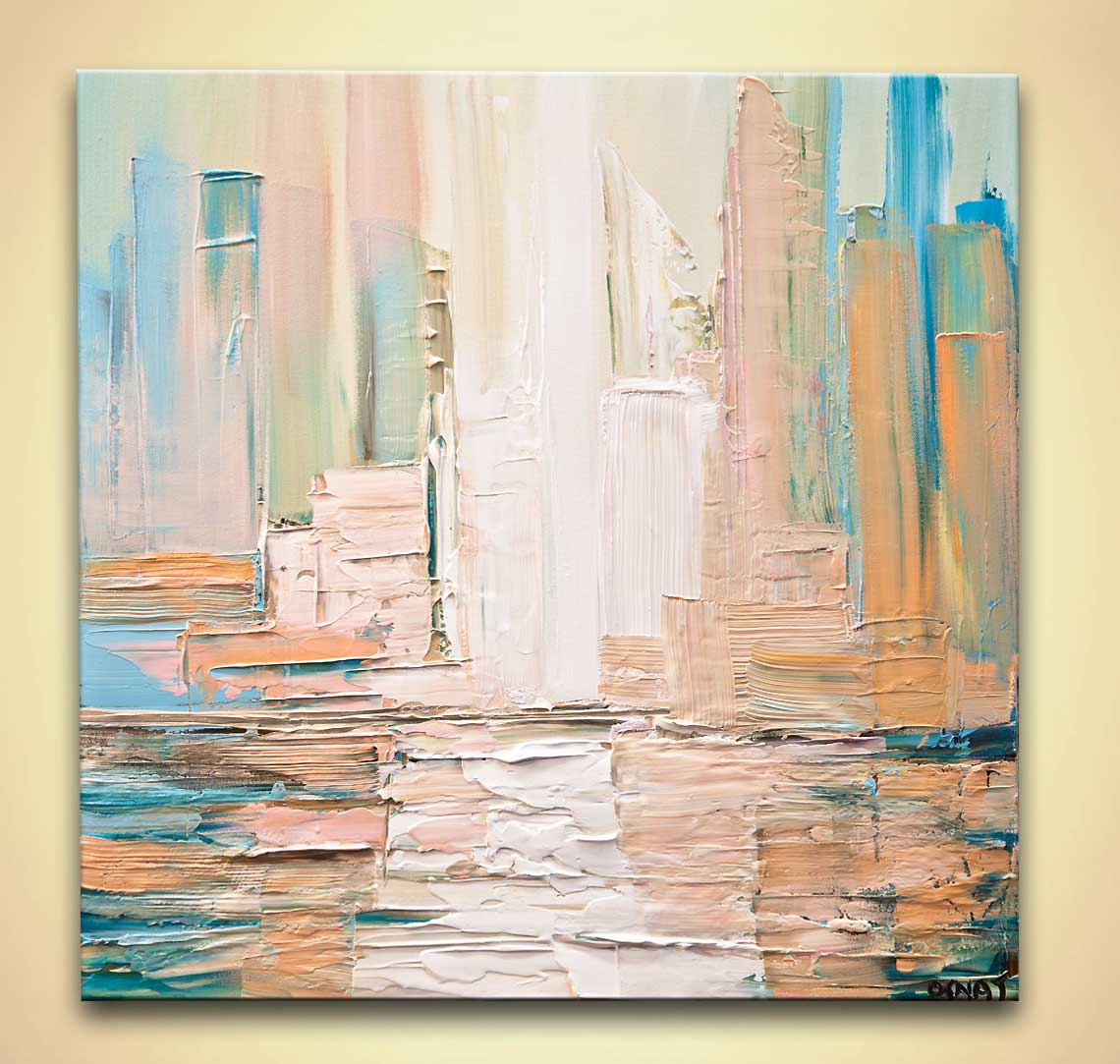 modern abstract art - City Skyline