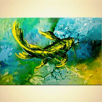 canvas print - Yellow Koi Fish