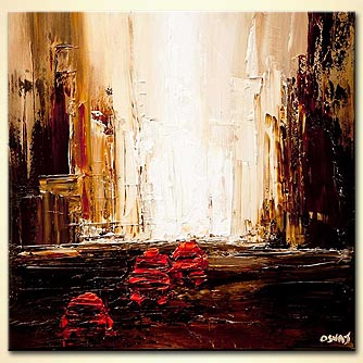 Cityscape painting - Red Cab