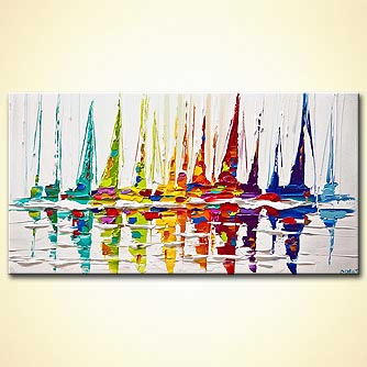 Seascape painting - Smooth Sailing
