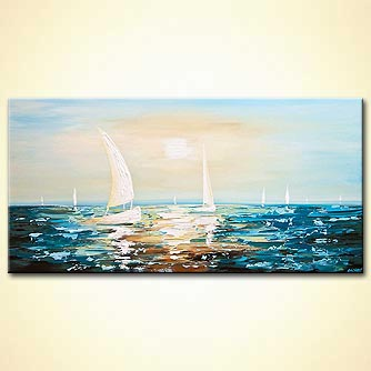 Seascape painting - Clear Water