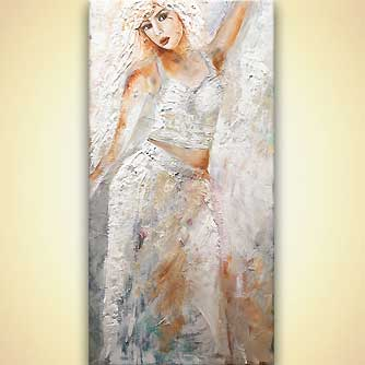 abstract woman figure painting