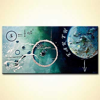 Abstract painting - Galileo Formula