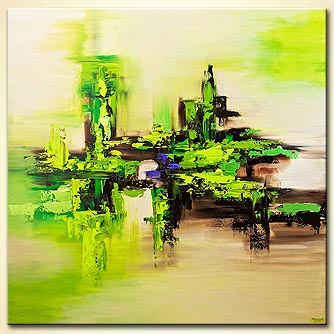 modern abstract art - Green