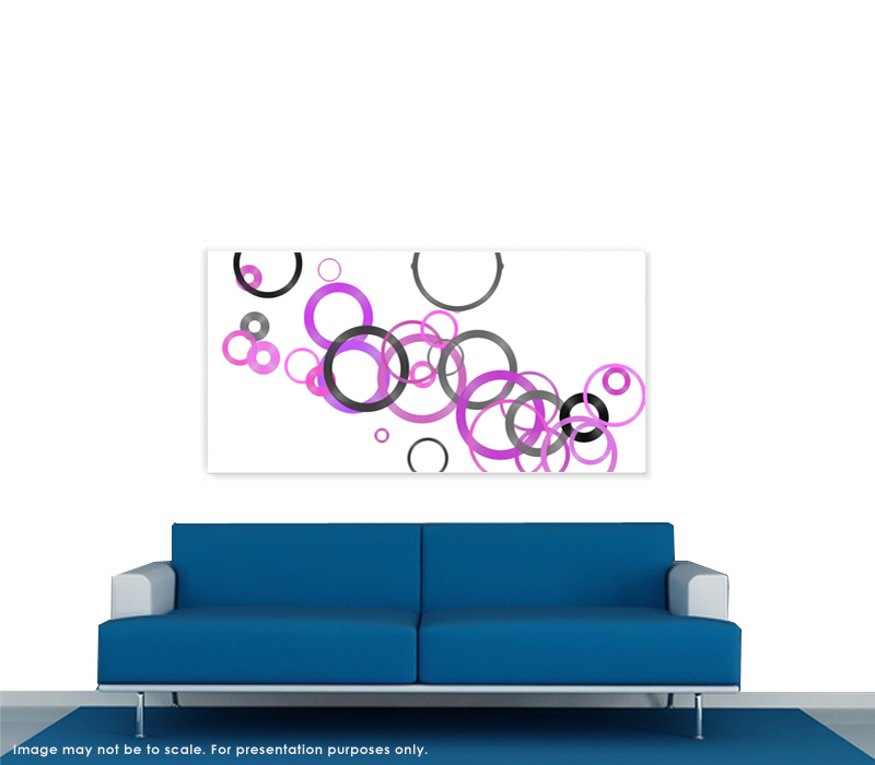 abstract giclee print on canvas