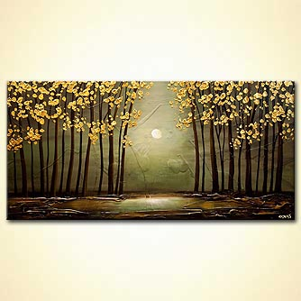 Forest painting - Sage Forest
