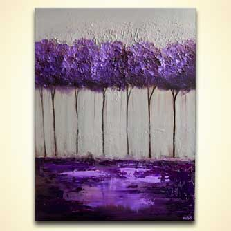 modern abstract art - Purple Scent