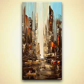 Cityscape painting - City View