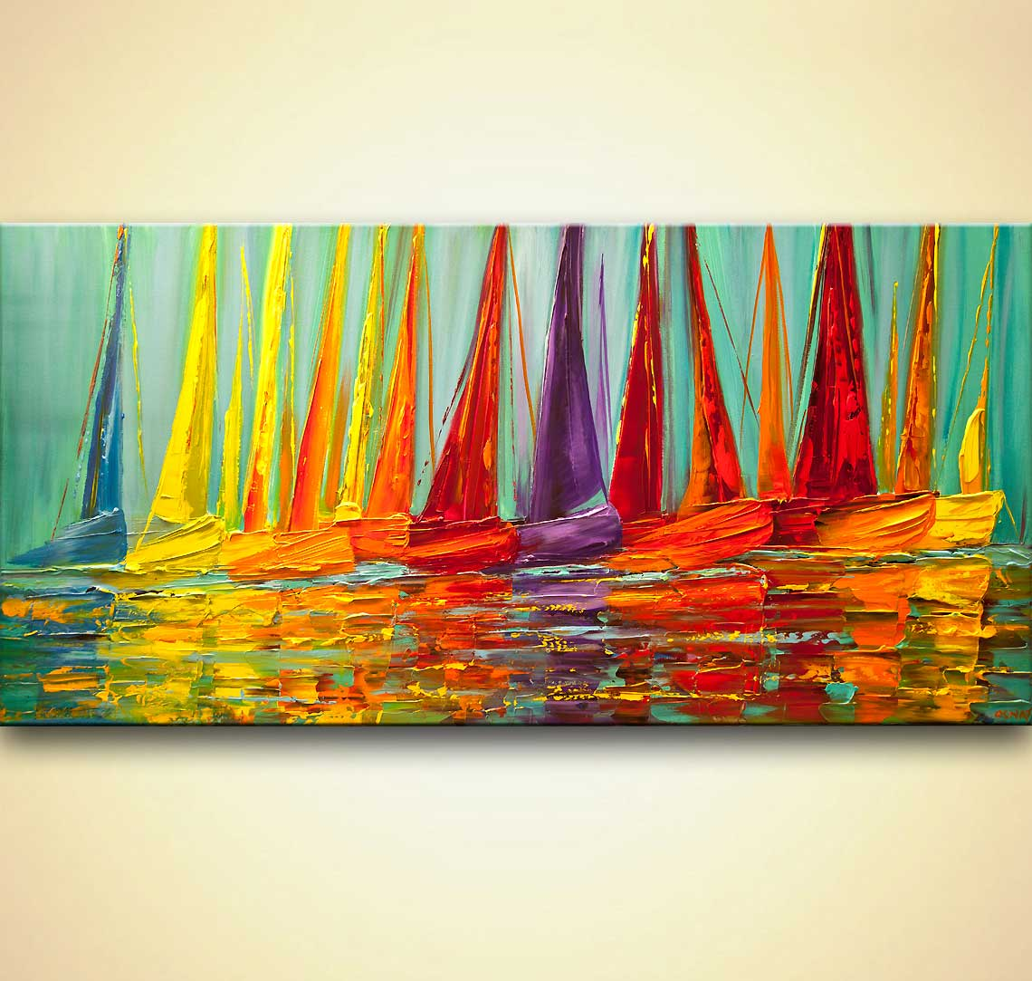 modern abstract art - Sail With Me