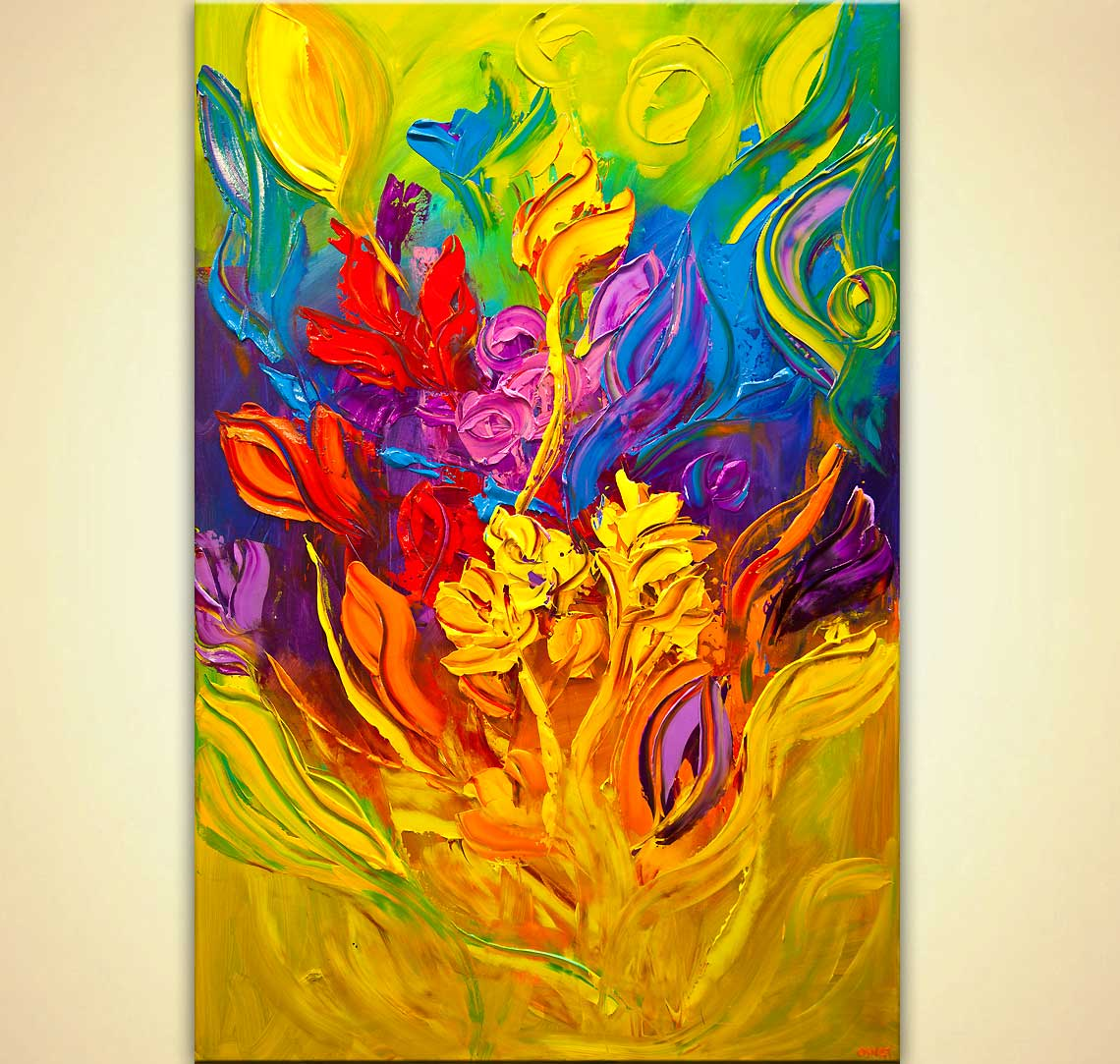 modern abstract art - Colorful Blossom