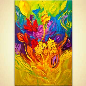 Floral painting - Colorful Blossom