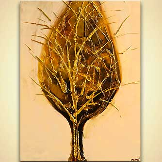 Forest painting - Golden Tree