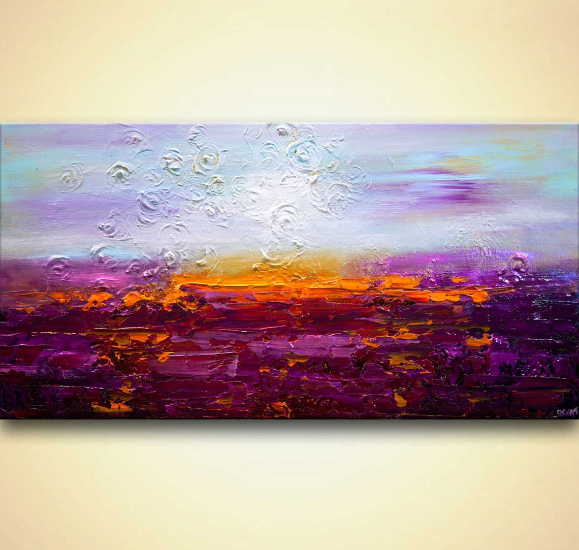 purple lavendar field painting