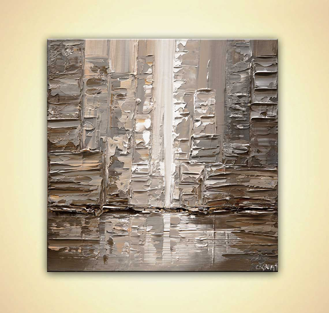 contemporary abstract city painting