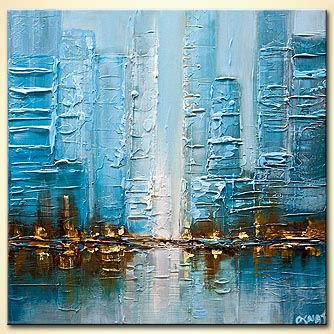 Cityscape painting - Reflection