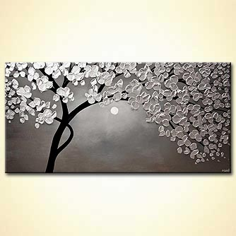 modern abstract art - Silver Moon