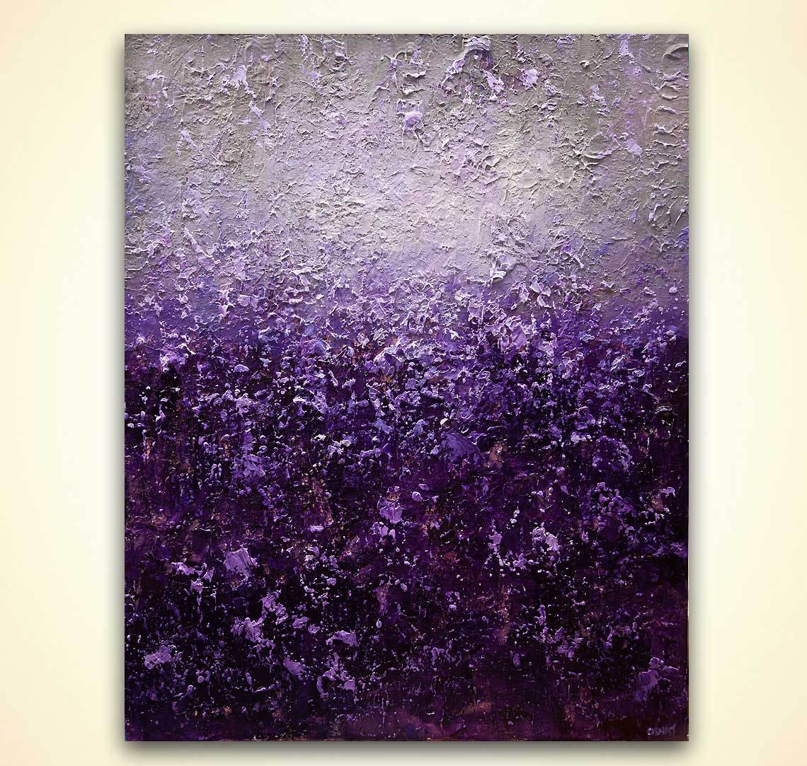 Painting For Sale Purple Gray Abstract Painting Heavy