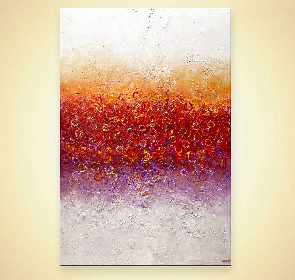 Abstract painting - big modern colorful abstract art #9167