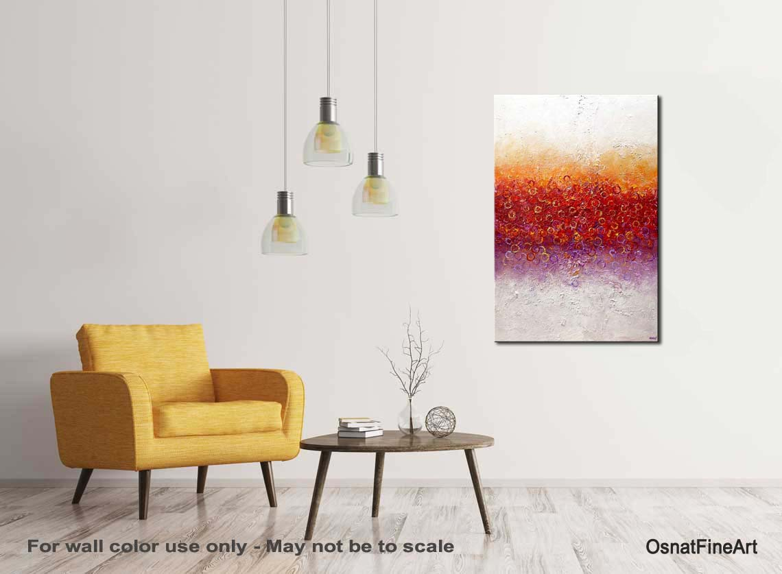 Painting - big modern colorful abstract art #9168