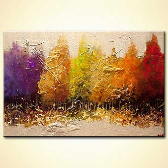 modern seasonal painting textured landscape art