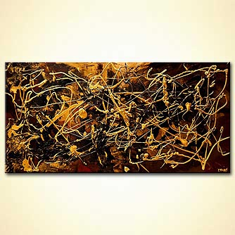 modern abstract art - The Gold Chain